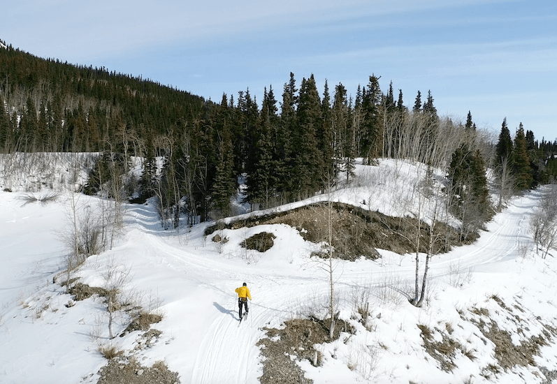 doug hitch skiclaws cross country skiing uphill